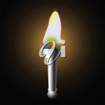colorful illustration with torch for your design