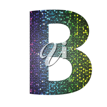 colorful illustration with letter B of different colors on a white background