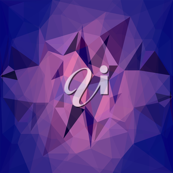 Abstract Blue Pink Background. Abstract Polygonal Geometric Pattern