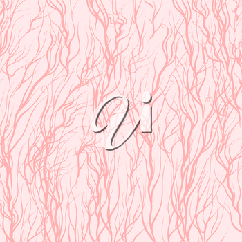 Pink Trees on Pink  Background. Pink Natural Pattern