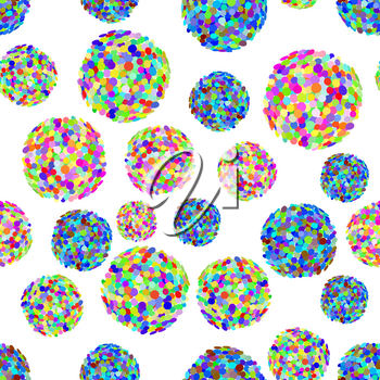 Colorful Microbes SeamlIsolated on White Background. Pandemic Colored Backteria. Dangerous Bad Viruses. Germs Backterial Mickroorganism. Bacterium Virus