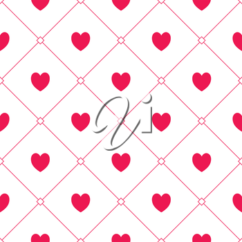 Seamless romantic hearts pattern. Design element for wedding invitation, Valentines Day cards, wallpapers, web site background, baby shower invitation, birthday card, scrapbooking, fabric print etc.