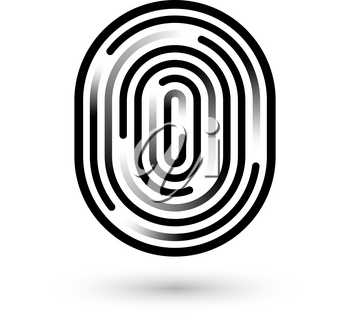 Fingerprint linear icon. Security measure, preventing crime, checking identity, electronic reading concept. Graphic design element for web, mobile app. Isolated on white background. Vector illustratio