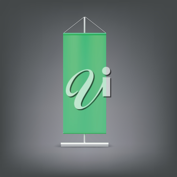 Green advertising stand. Blank vector illustration. Template for design work