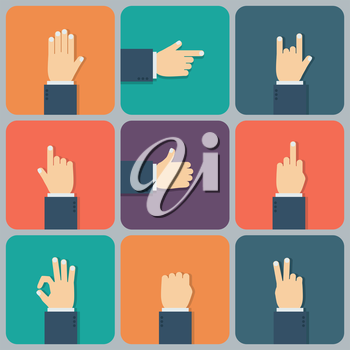 Hands flat icon. Vector illustration for your startup.