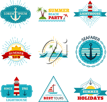 Vintage badges, labels, ribbons, logo templates and emblems. There is place for your text.