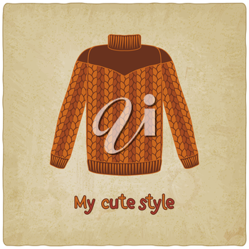 cute sweater old background - vector illustration. eps 10