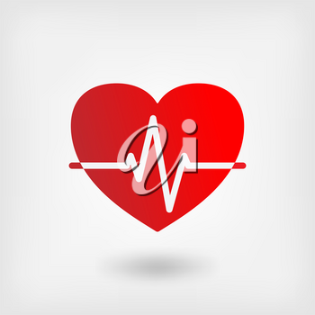 heart cardiogram symbol - vector illustration. eps 10