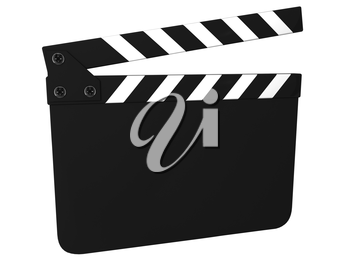 Blank clapboard (clapperboard) isolated