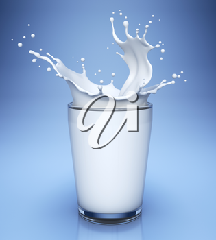 Splash of milk in glass