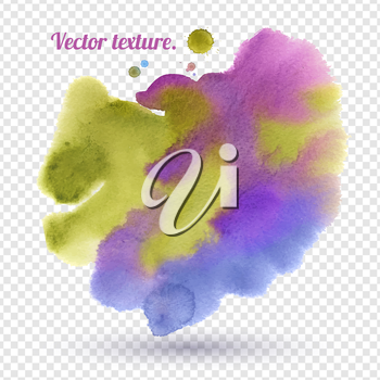 Abstract hand painted watercolor background. Vector texture. Isolated.