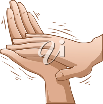 Royalty Free Clipart Image of Clapping Hands