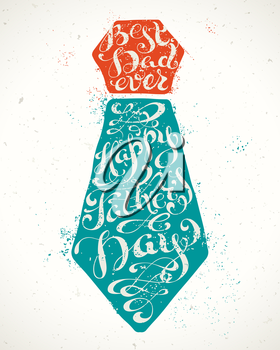 Hand-written calligraphic phrase for your poster, postcard or T-shirt designs. Vector template.