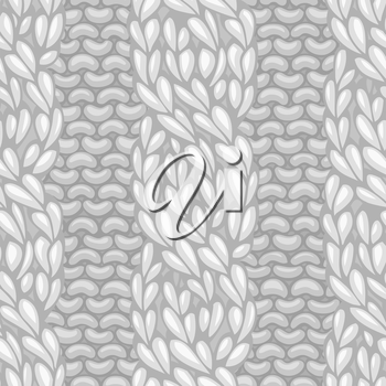 Vector four-stitch cables, twisting to the left. C4F. Vector knitting texture. Vector high detailed stitches. Can be used for web page backgrounds.
