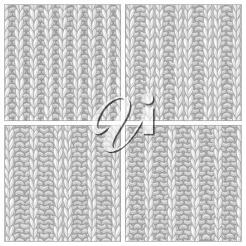 Ribbing Stitch. Double Ribbing Stitch. Vector knitting textures. Boundless background can be used for web page backgrounds, wallpapers and invitations.