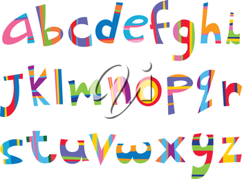 Lower case fun alphabet