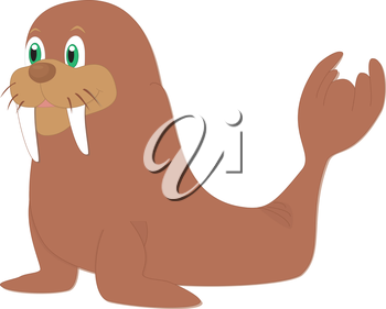 Royalty Free Clipart Image of a walrus