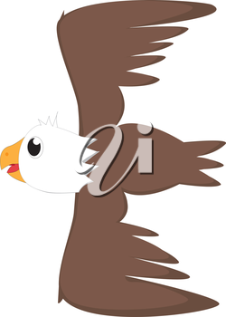 Royalty Free Clipart Image of an eagle making the letter 'E'