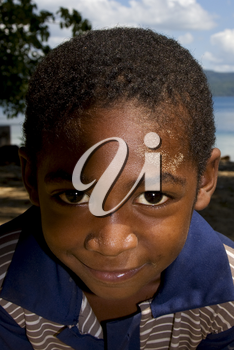 portraif of a little chilld male in the isle of madagascar nosy be