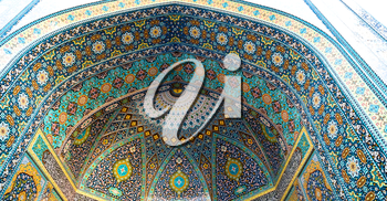 in iran abstract texture of the  religion  architecture mosque roof persian history