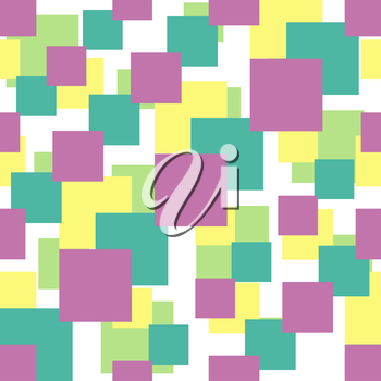 Seamless vector pattern with colorful squares of different sizes