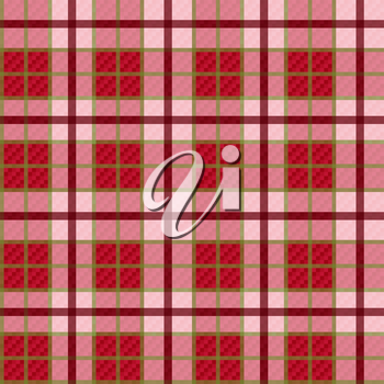 Seamless checkered shades of red and pink vector pattern with transparency