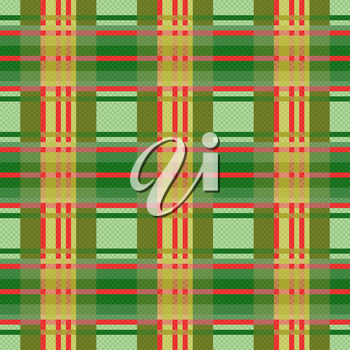 Seamless checkered vector colorful pattern in green and red