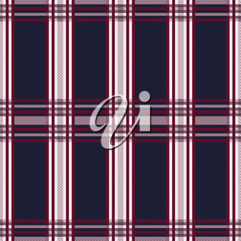 Seamless rectangular vector pattern mainly in dark blue, light grey and red hues