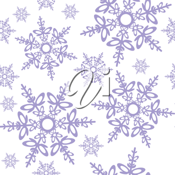 Vector. Seamless ornament snowflake  in color 478