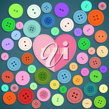 Colorful Sewing Buttons Seamless Pattern. Vector illustration