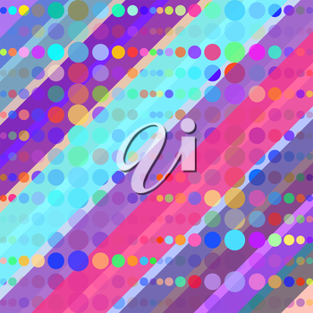 Abstract Colorful Retro Background Illustration. Vector illustration