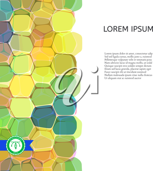 Abstract Colorful Roundish Honeycomb Background. Vector illustration