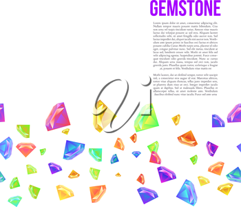 Gemstone Seamless Pattern for Presentation. Vector illustration