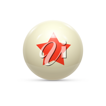 Rubber Ball with Star isoalted. Vector illustration
