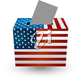 Vote for election with american usa flag concept