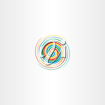 abstract colorful spiral tornado vector icon background element logo