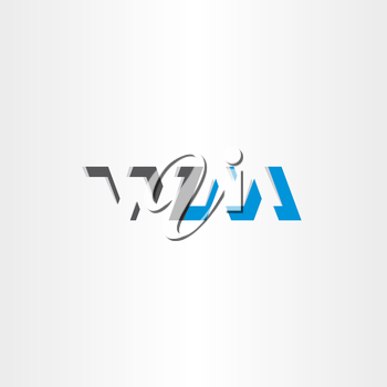 letter w and m logotype logo vector icon design