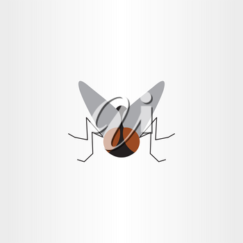 fly insect vector logo symbol sign element