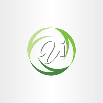 green symbol recycle logo ecology vector sign icon