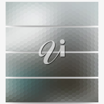 Abstract unfocused natural headers, blurred design vector.