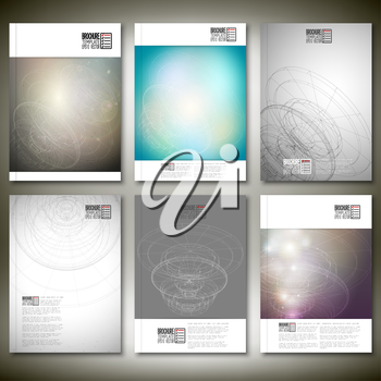 Conceptual design, technology background vector. Brochure, flyer or report for business, template vector.