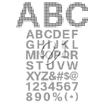 Pixel Font - Alphabets and numerals characters in retro square pixel font.