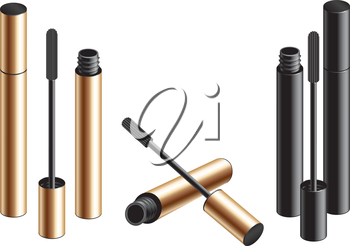 Vector mascara isolated on the white background