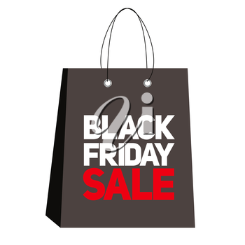 Black Friday Sale Label Vector Illustration EPS10