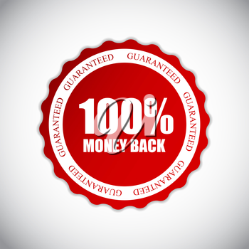 Golden Label Money Back Vector Illustration EPS10