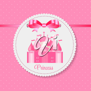 Princess  Background with Castle Vector Illustration EPS10