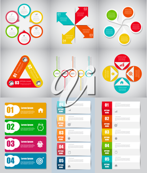 Big Set of Infographic Banner Templates for Your Business Vector Illustration