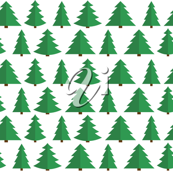 Christmas Flat Tree Seamless Pattern Background Vector Illustration EPS10