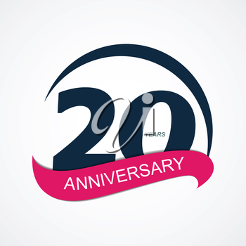 Template Logo 20 Anniversary Vector Illustration EPS10