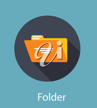 Folder Flat Icon Concept Vector Illustration. EPS10